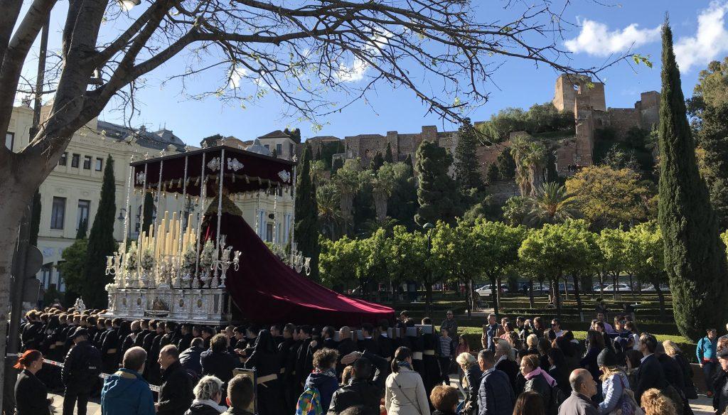 Semana Santa procession throne