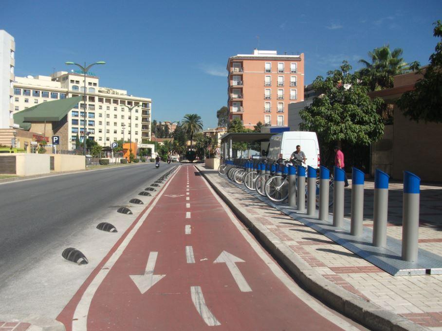 cycle lane malagas